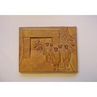 Punavankien vapautus 1918, reliefi