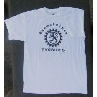 Suomalainen työmies t-paita,valkoinen