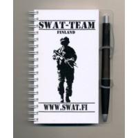 Swat-team kierrevihko + kynä.