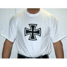 Rautaristi T-paita, valkoinen