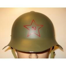Venäläinen m-36 teräskypärä tähdellä.